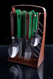 kitchen cutlery knives kitchen cutlery knives forks and spoons on black background