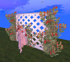 trellis roses second life marketplace trellis red roses kisses u0026 butterflies