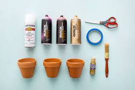 terracotta paint color add color to your herb garden with diy terracotta pots brit co