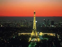 sunset vista paris france famous wallpaper