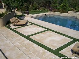 Patio Artificial Grass In Between Cement Slabs On Patio Tuffgrass 916 741 3396 Or