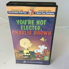 peanuts classic a brown thanksgiving vhs new 8 00