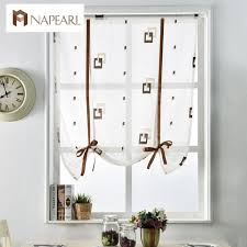 White Cafe Curtains Modern Curtains Kitchen Door Blinds White Voile