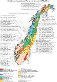 Map Of Norway Simplified Geological Map Of Norway Modified After Solli
