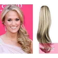 clip in ponytail clip in ponytail wrap braid hair extension 24 wavy platinum