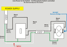 simple wiring diagram for switch outlet how to wire a switched