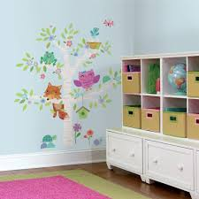 Woodland Forest Peel And Stick Animals Roommates Wall Decals Wall Decor The Home Depot