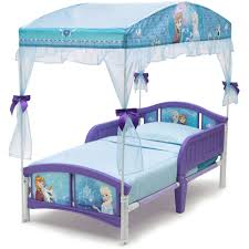 Canopy Bedroom Sets For Girls Delta Children Disney Frozen Toddler Canopy Bed Walmart Com