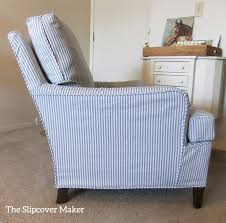 custom slipcovers for chairs ticking stripe slipcover for drexel chair custom slipcovers
