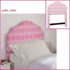 girls pink upholstered headboard twin full queen fashionable