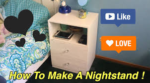 how to make a bed table how to make a nightstand youtube