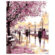 cherry blossom oil painting promotion shop for promotional cherry