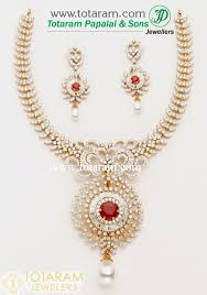 gold stones necklace images 18k gold diamond necklace drop earrings set with color stones jpg