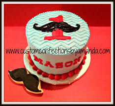 mustache birthday cake mustache party custom confections by amanda