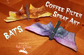 Halloween Crafts For 6th Graders by Mom To 2 Posh Lil Divas Kids Craft Coffee Filter Spray Art Bats