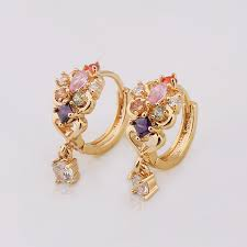 gold jhumka earrings design with price shiny single gold jhumka earrings design with price buy