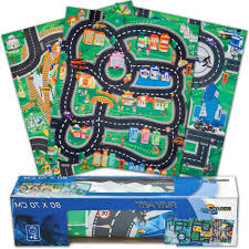 car u0026 road police fire or construction playmat kids boys play mat
