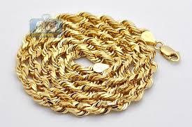 solid yellow gold necklace images Solid 14k yellow gold mens rope chain necklace 6 mm 24 26 28 30 quot jpg