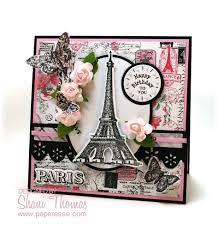 vintage cards paperesse frilly vintage look pink black birthday card