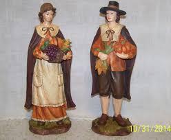 thanksgiving pilgrim statues thanksgiving pilgrims woman family two pilgrims figurine