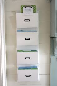 Office Wall Organizer Ideas White Color Hanging Wall File Or Mail Organizer With 4 Pockets For