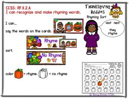 buddies rhyming sort thanksgiving file folder phonemic awareness