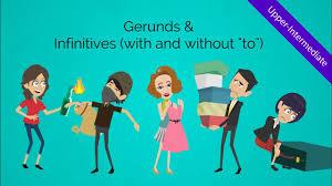 gerunds and infinitives verbs fun u0026 humorous esl video to peak