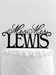 wedding cake lewis mr and mrs lewis wedding cake topper personalized with last