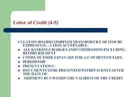 Letter Of Credit Validity letter of credit learning objectives the students are required to