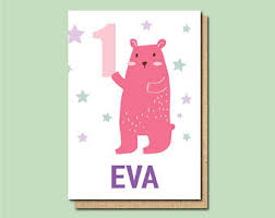 1st birthday card etsy