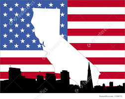 New Georgia Flag Map Of California Background Stock Illustration I1389770 At