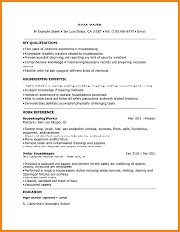Housekeeping Duties On Resume Resume Expected Graduation Resume For Your Job Application