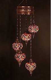Turkish Lighting Fixtures Turkish Authentic 5 Globe Mosaic Chandelier Mosaic L Moroccan