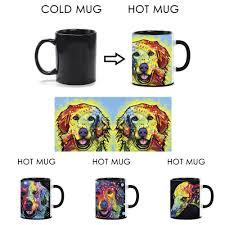 funny magic coffee mugs great dane dog heat activated mugs color