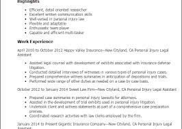 personal injury paralegal cover letter sample resume template info