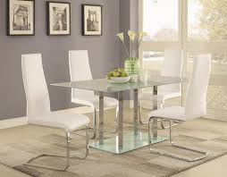 Glass Dining Room Sets Coaster Geneva Contemporary Glass Dining Table Coaster Fine