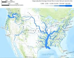 Map Of North America With States by American Rivers Musings On Maps