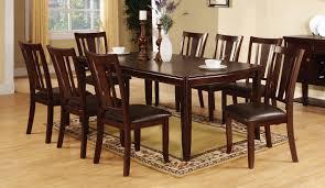 9 pc dining room set edgewood transitional design 9 piece dining set in espresso finish