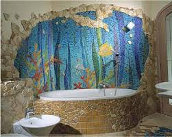 bathroom mosaic ideas aquarium mosaic in bathroom mosaics aquariums and bathroom colors