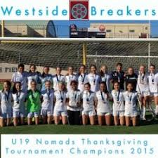 u19s win the nomads thanksgiving college showcase westside breakers