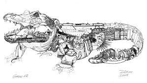 don stewart wetland alligator drawing step by step progress the