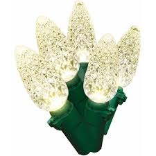 time dome led light set green wire warm white bulb 500