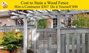 cost to stain a wood fence youtube