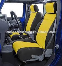 housse de siege auto personnalisé noir et jaune néoprène jeep housse de siège housse de siège de
