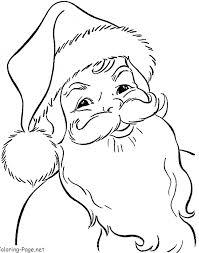 santa coloring pages printable babsmartin com babsmartin com