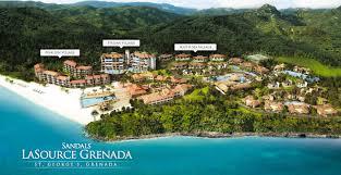 aerial view map of sandals la source grenada travel caribbean