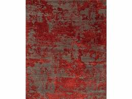 patterned rug paratem 2 esk 431 dark gray red lacquer by jaipur
