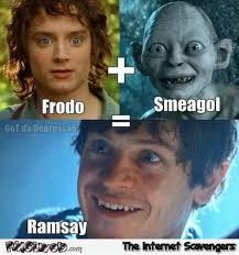 Frodo Meme - ramsay is smeagol frodo meme pmslweb