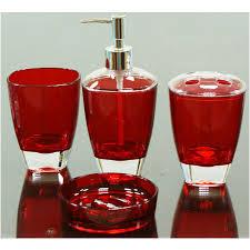Red Bathroom Accessories Sets by Bathroom Set Red 20 Fascinating Red Bathroom Accessories Home