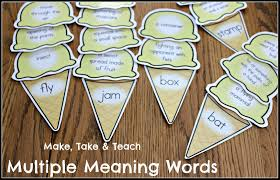 multiple meaning words ice cream scoops make take u0026 teach